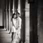 Cambridge college cloisters - engagement photo shoot