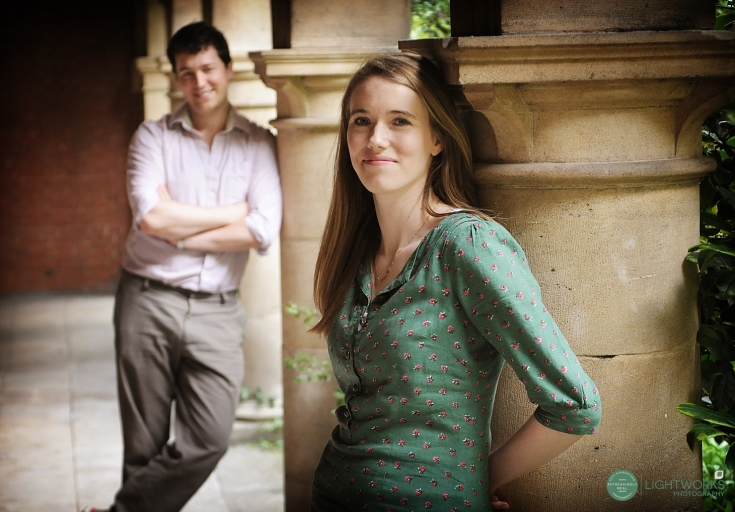 Engagement photoshoot - college cloisters