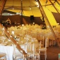 Tipi wedding inside shot