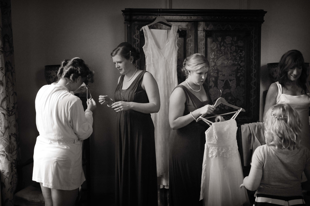 Wedding morning - Newnam College