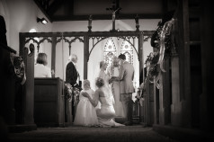 Wedding vows from back of church