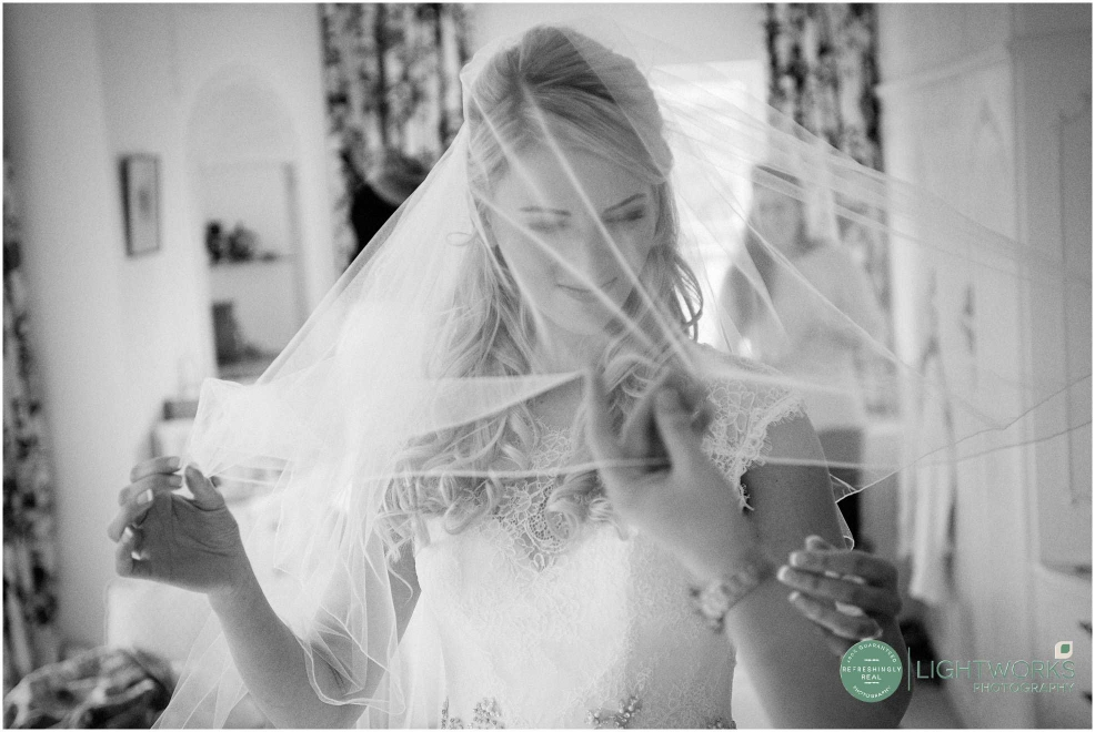 Bride getting ready at Rectory Farm