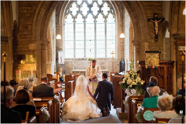 Wedding ceremony at Orton Longueville church Peterborough