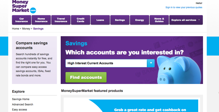 Money Super Market Image