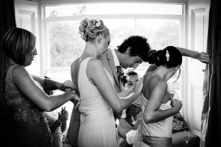 Bride getting ready at Ickworth House Suffolk