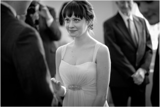 Bride at Cambridge registry office wedding
