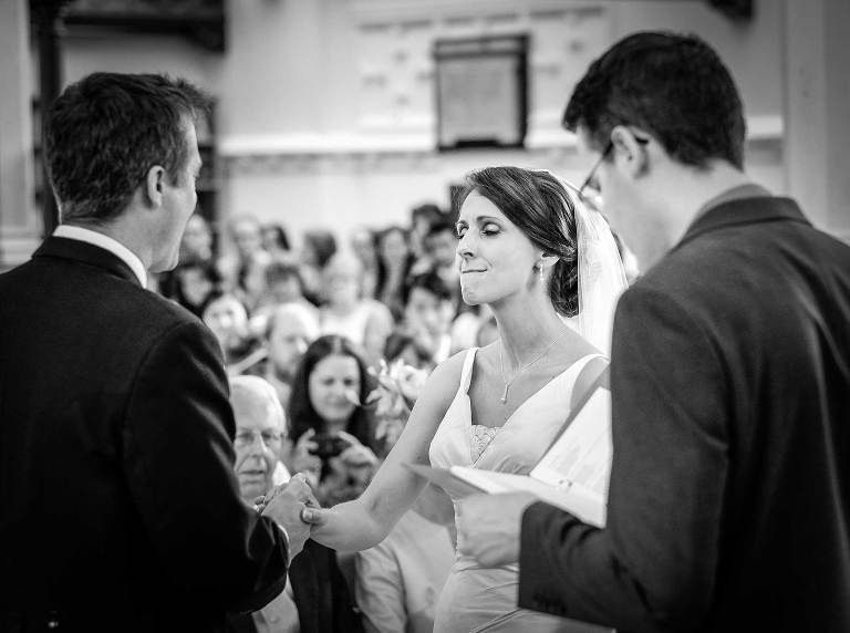 Emotional wedding ceremony photo