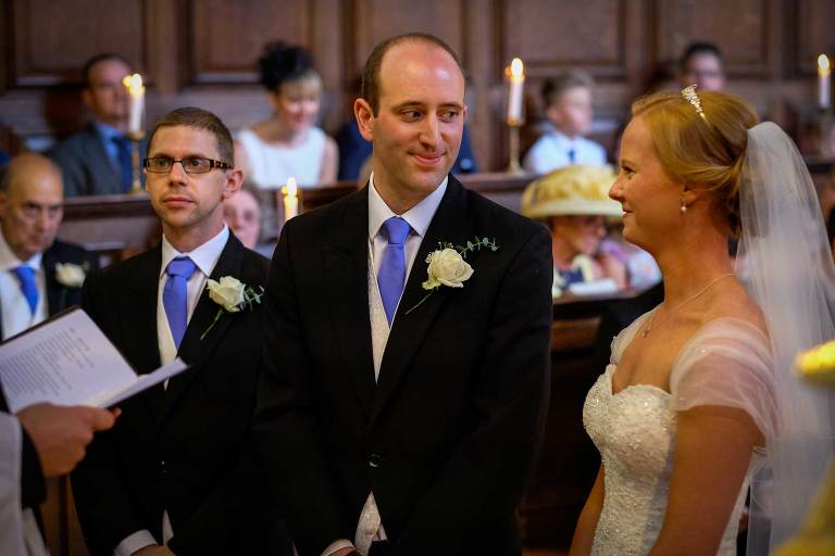 Christ's college chapel wedding