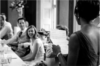 Wedding speeches at Downing College cambridge