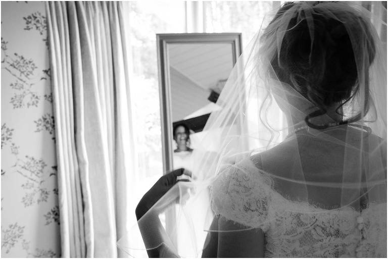 Bride getting ready at South farm