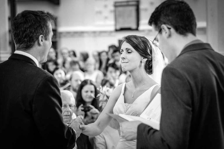 Cambridge wedding photographer - wedding ceremony